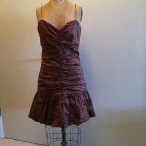 BCBGMaxAzria Copper Strapless Cocktail Dress